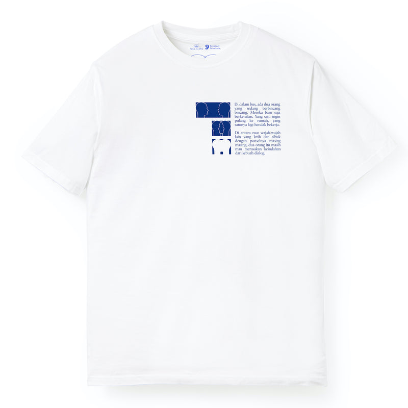 Dialog Short Sleeves White T Shirt