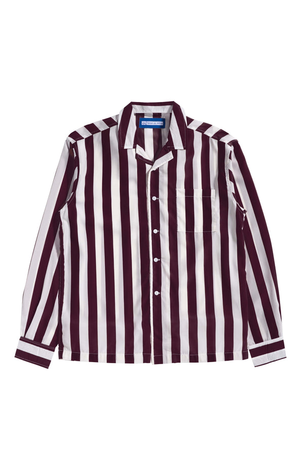 Les Rayures Burgundy Bowling Long Sleeve