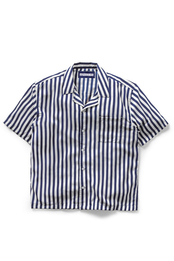 Vacances Stripes Shirt in Navy