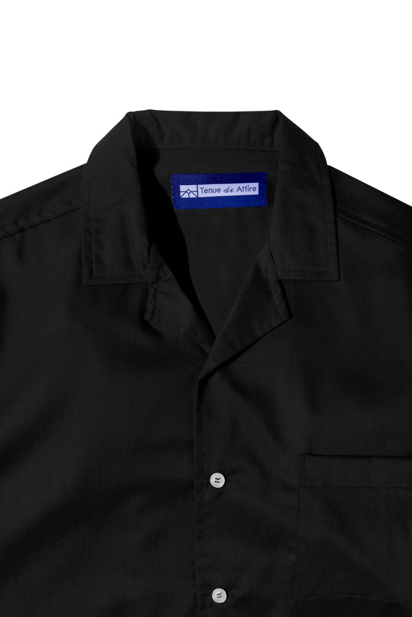 Chemise Colorée Black Shirt Short Sleeve