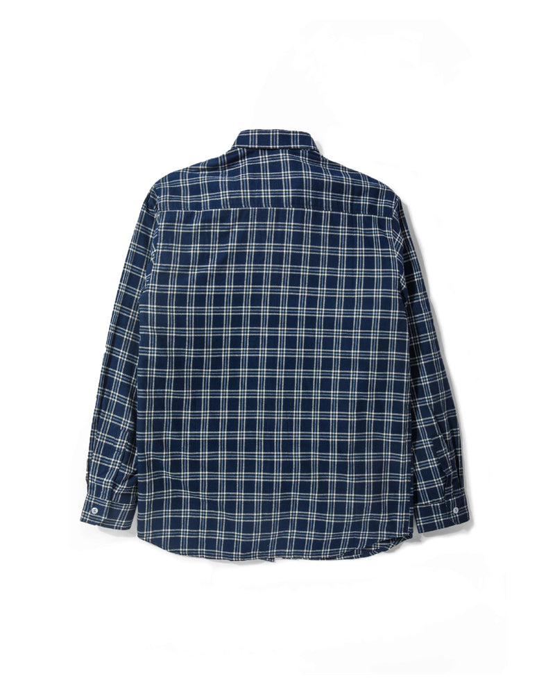 Merci Flannel Tricolor Navy Plaid - Tenue de Attire