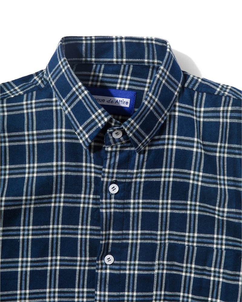 Merci Flannel Tricolor Navy Plaid