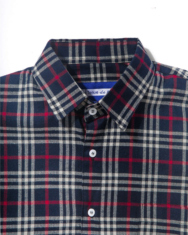 Merci Flannel Tricolor Plaid Black