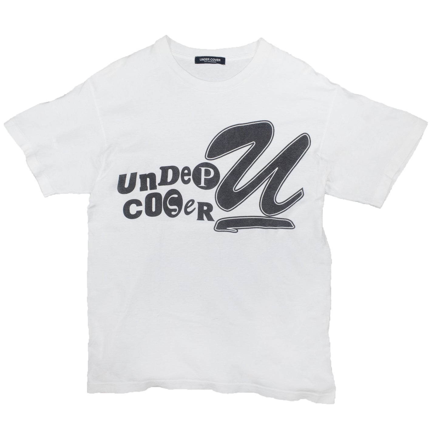 Undercover AW96 Script U logo tee <Br> Size Large