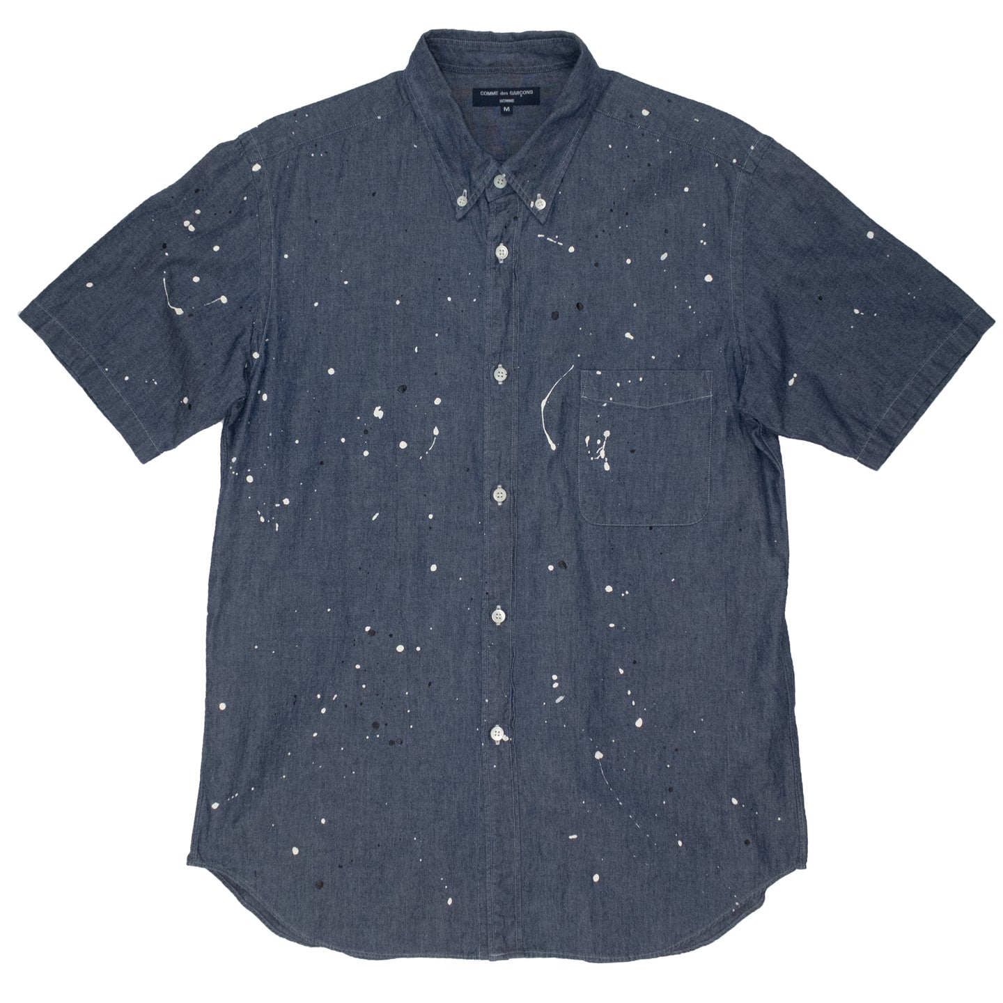 Comme Des Garcons Homme Paint Splatter Button Up <Br> Size Medium