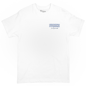 108Warehouse Shop tee - White/Purple <Br> Size All