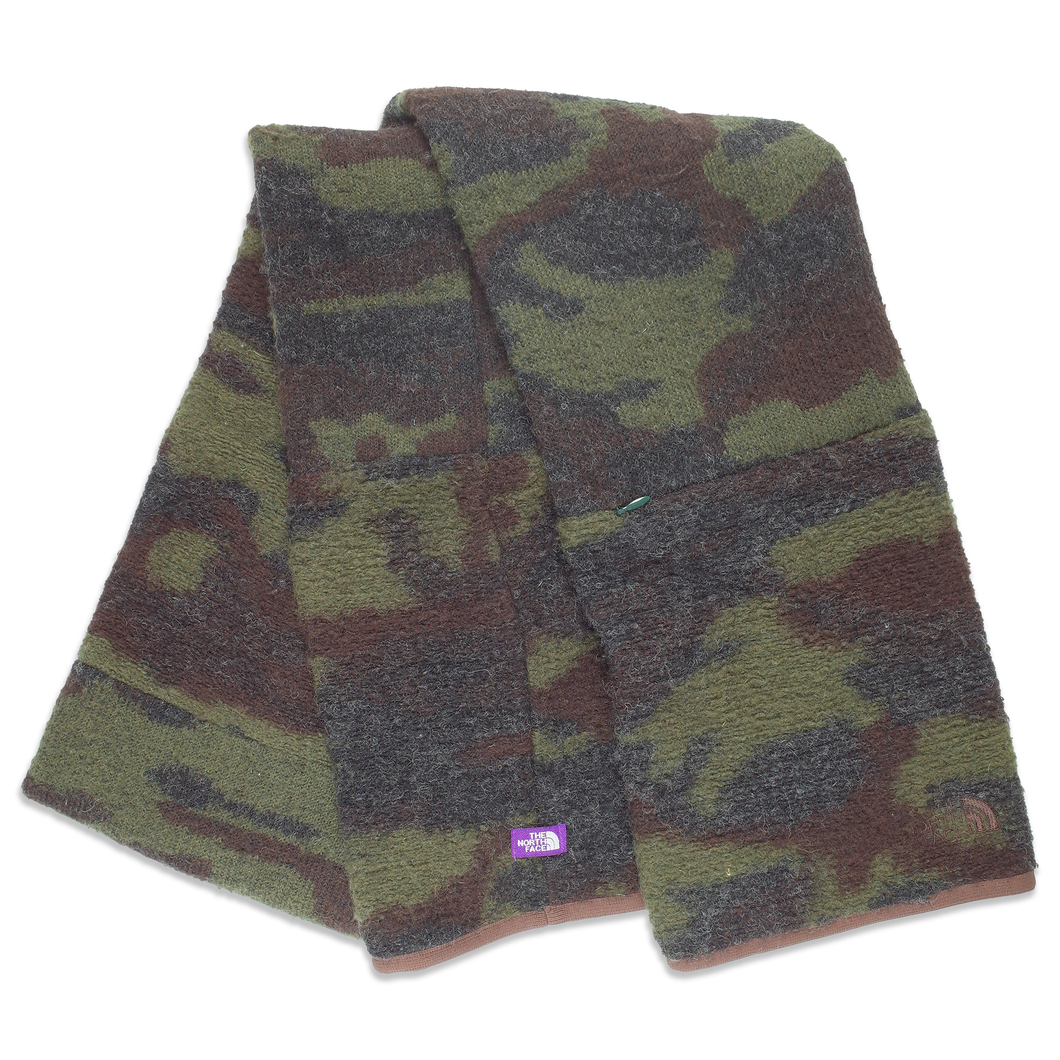 TNF Purple label camo wool scarf  <Br>  Size OS