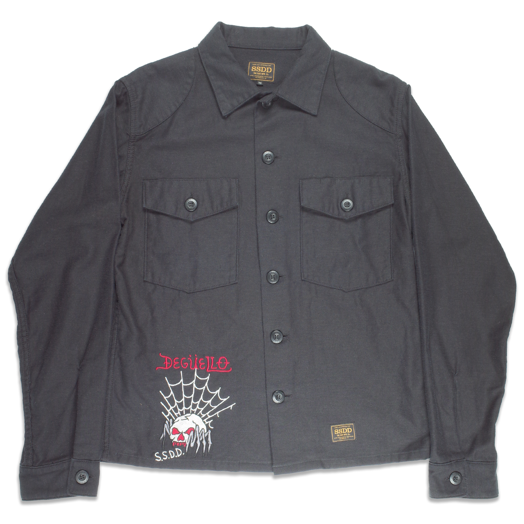 FUCT SSDD Embroidered black jacket <Br> Size Medium