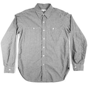 engineered garments grey chambray work shirt <Br> size medium