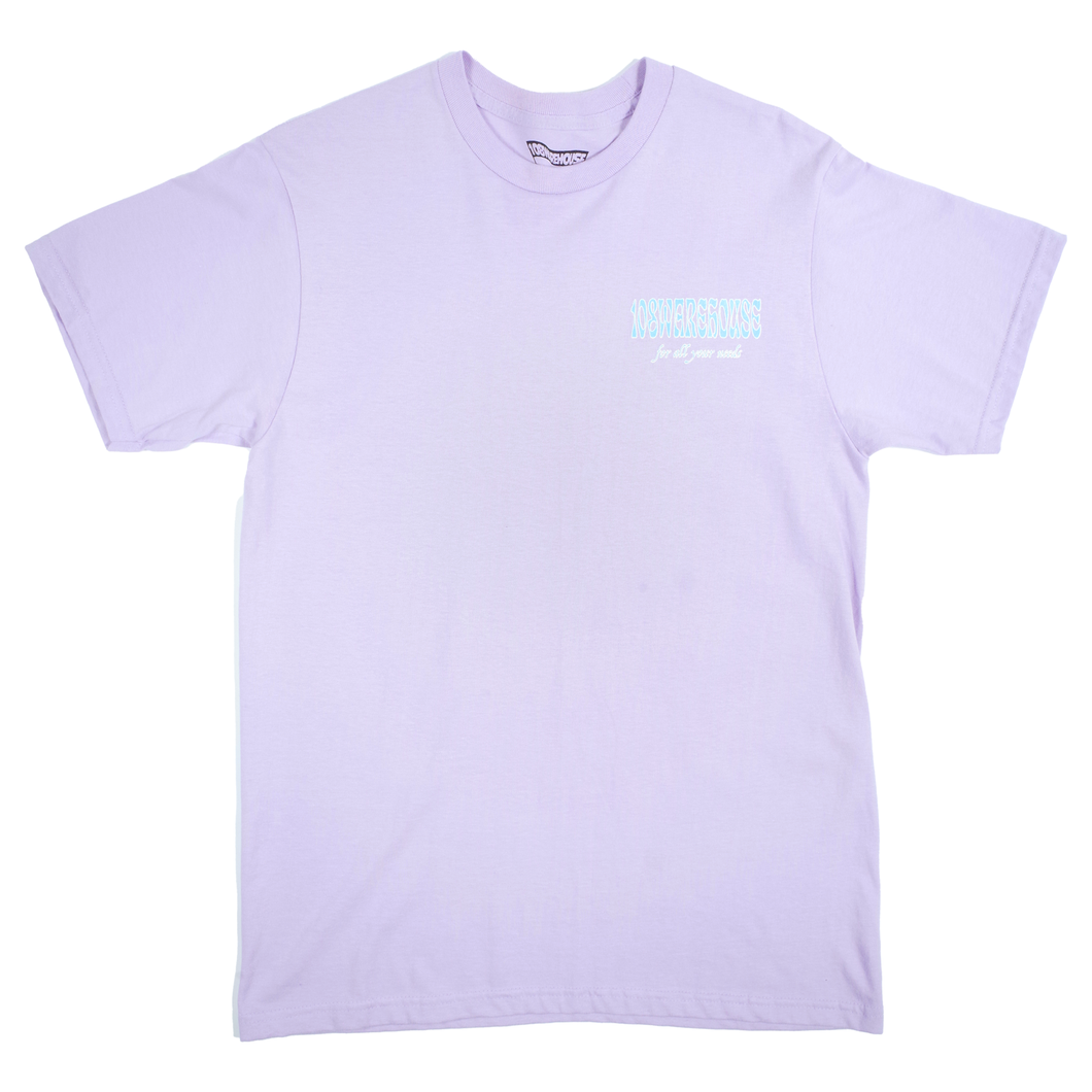 108Warehouse Shop tee - Orchid/White <Br> Size All