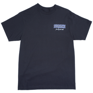 108Warehouse Shop tee - Black/Blue <Br> Size All
