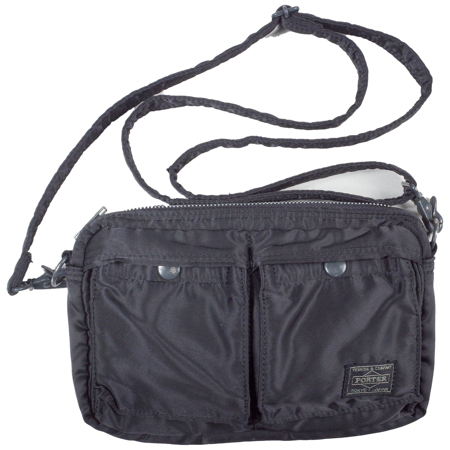 porter tanker shoulder bag small (black) <Br> size os