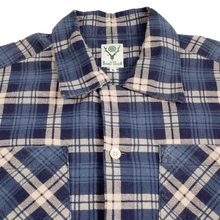 Load image into Gallery viewer, south2 west8 blue 6 pocket flannel <Br> size large