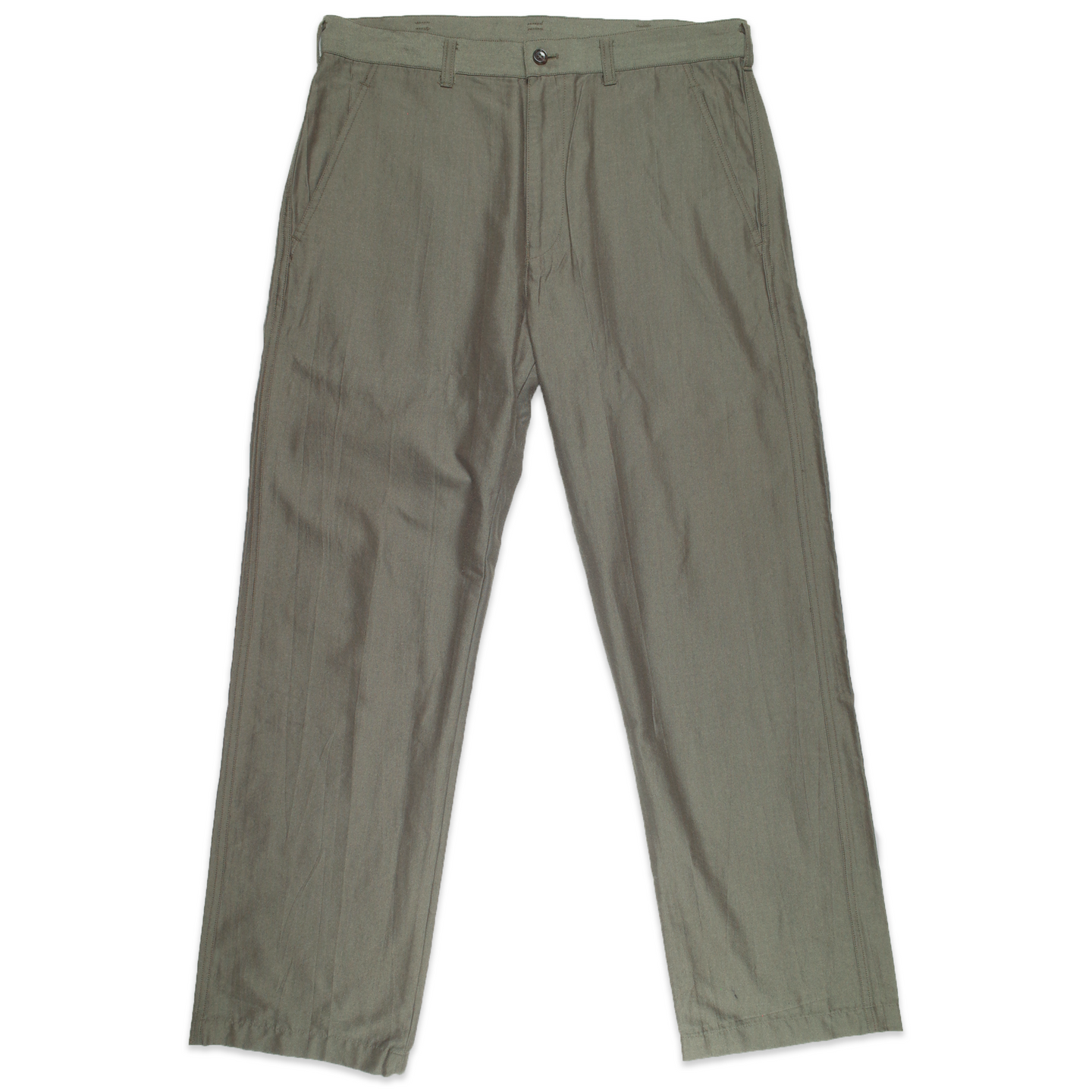 CDG Homme Khaki rayon trousers <Br>  Size Small
