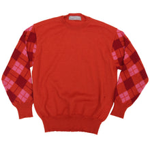 Load image into Gallery viewer, Comme Des Garcon Homme 2000 AD Argyle Sleeve Sweater <Br> Size Large