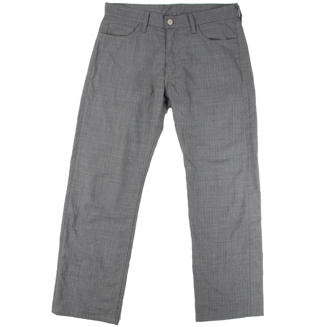 comme des garcons homme grey plaid trousers <Br> size medium