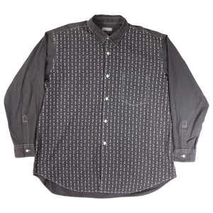 comme des garcons homme embroidered button up <Br> size extra large