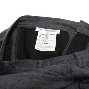 Comme Des Garcon Shirt Grey Wool Pants <Br> Size Small
