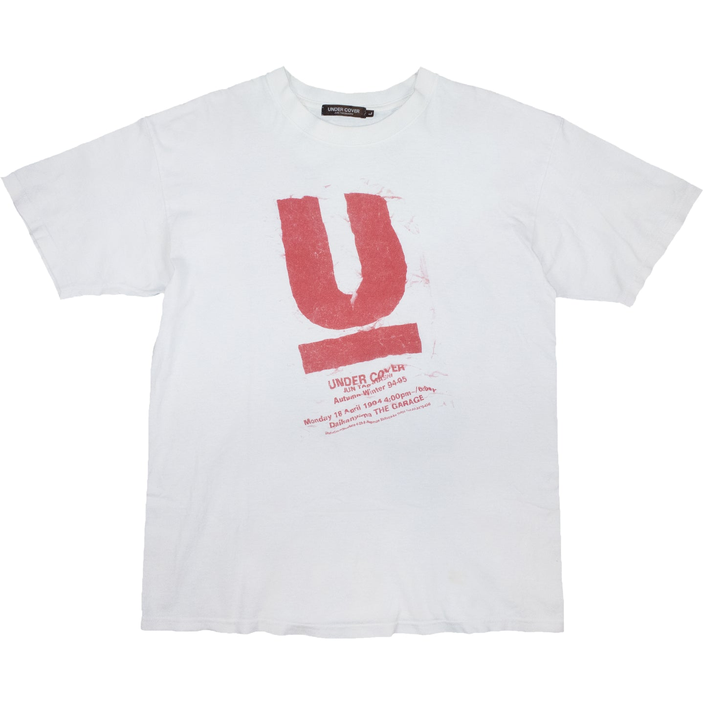 Undercover AW94 'First show tee' <Br> Size Large