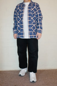 south2 west8 blue 6 pocket flannel <Br> size large