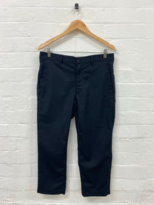 CDG Homme Plus Navy Trousers <Br> Size Medium