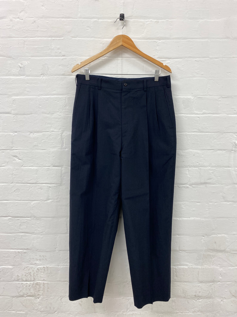 CDG Homme wool pleated suit pants <Br> Size Large