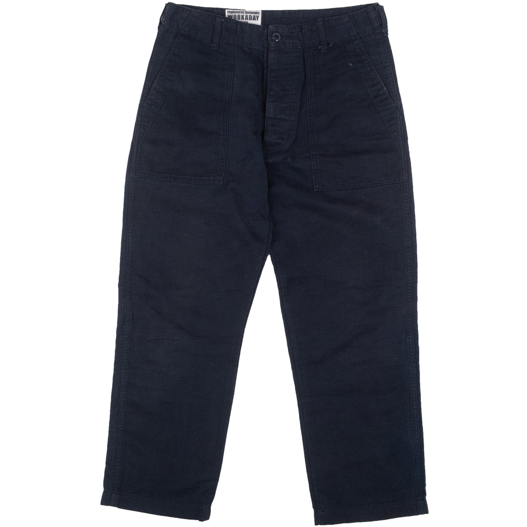 Engineered Garments Navy Cord Trousers <Br> Size Extra Small