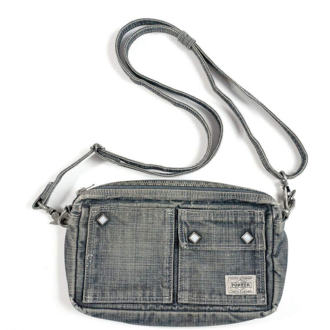 Porter Indigo Denim Shoulder Bag <Br> Size OS