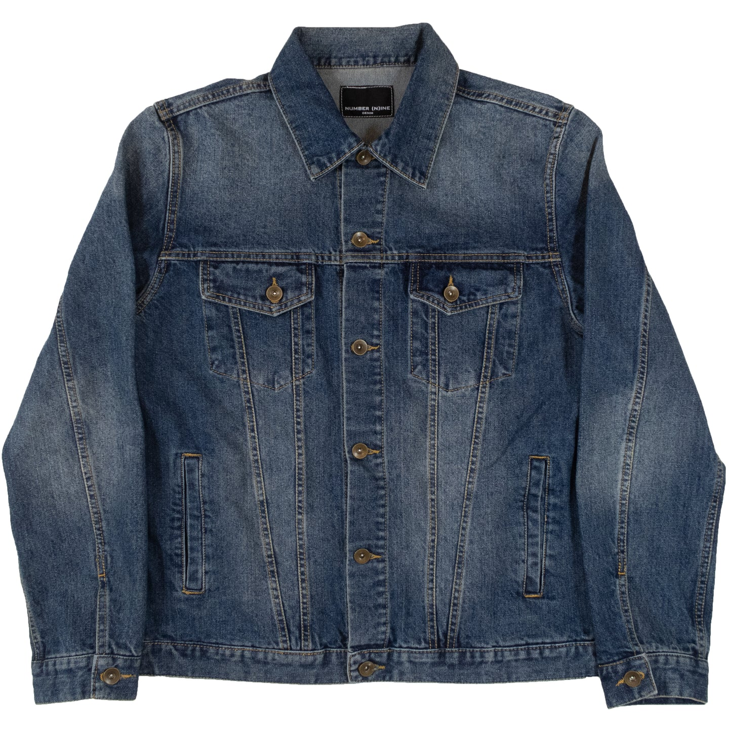 Number (N)ine Denim Trucker Jacket <Br> Size Large
