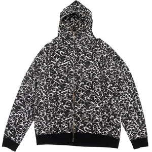 A Bathing Ape Leopard Camo Full Zip Hoodie <Br> Size Extra Large