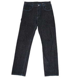 comme des garcons homme blue stitch denim pants <Br> size large