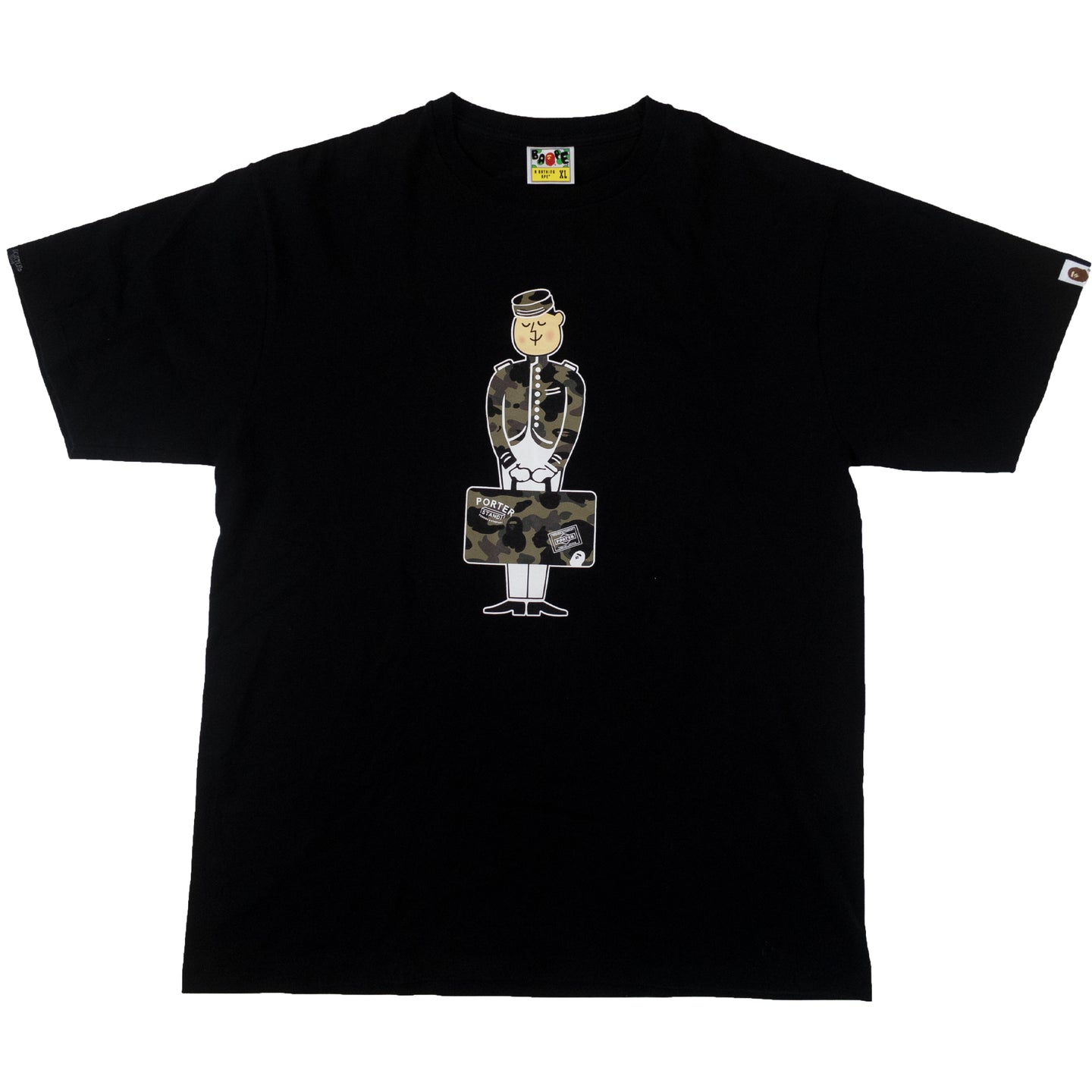 A Bathing Ape x Porter Stand tee shirt <Br> Size Extra Large