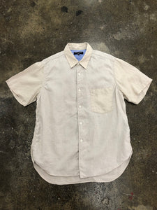 CDG Homme cream short sleeve button up <Br> size S