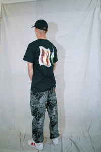 108warehouse x Sandoitchi black tee <br> size various