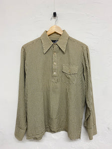 South2west8 checkered pullover shirt <Br> size medium