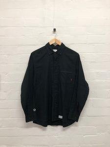 WTAPS black long sleeve button up <br> size M