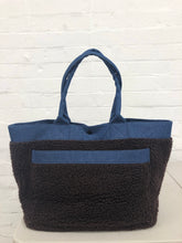 Load image into Gallery viewer, Head Porter reversible denim/fleece carry bag <Br> Size OS