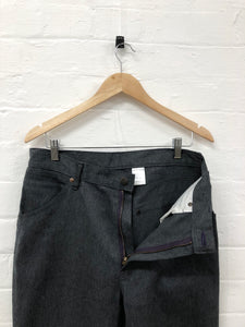 needles grey denim work pants <Br> size M