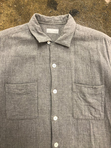 CDG Homme grey short sleeve button up <Br> size OS