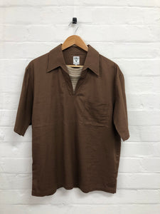 South2West8 brown pull over shirt <Br> Size Medium