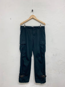 Nepenthes dark green cargo trousers <Br> Size 32