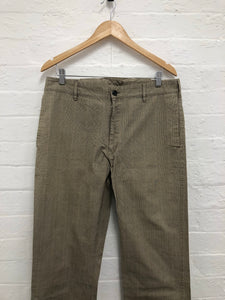 Visvim brown checked pants <Br> size Large