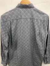 Load image into Gallery viewer, comme des garcon shirt grey patterned button up <br> size medium