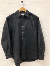 Load image into Gallery viewer, comme des garcons shirt grey wool shirt <Br> size small