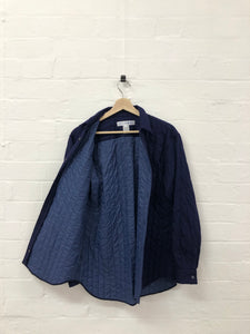 comme des garcons shirt navy quilted shirt <Br> Size Small