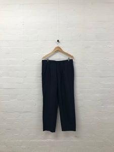 comme des garcons homme navy with red pinstripe trousers <Br> size large