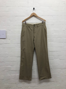 Visvim brown side striped trousers <Br> size Large