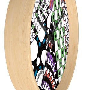 "Zentangle Wall clock - ""Angles"" hand drawn by ZenJoanie - ZenJoanie Wall Clock for Home Decor"