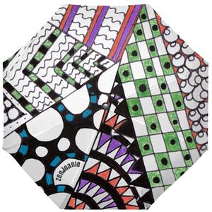 "Zentangle Umbrellas - ""Angles"" hand drawn by ZenJoanie"