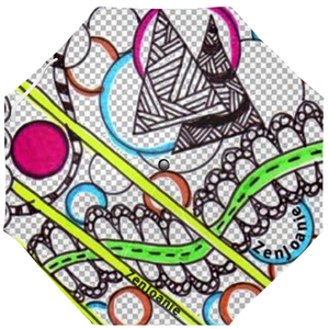 "Zentangle Umbrellas - ""Pathways"" hand drawn by ZenJoanie"